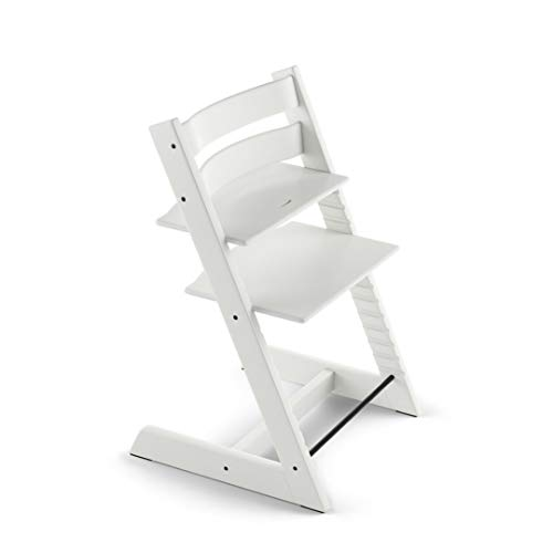 Sedia Design Stokke.Stokke Tripp Trapp Chair White No Harness No Extended Glider Chair Only