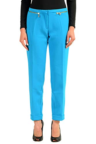 Versace Collection Women's Blue Stretch Casual Pants Size US 8 IT 44