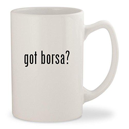 got borsa? - White 14oz Ceramic Statesman Coffee Mug Cup