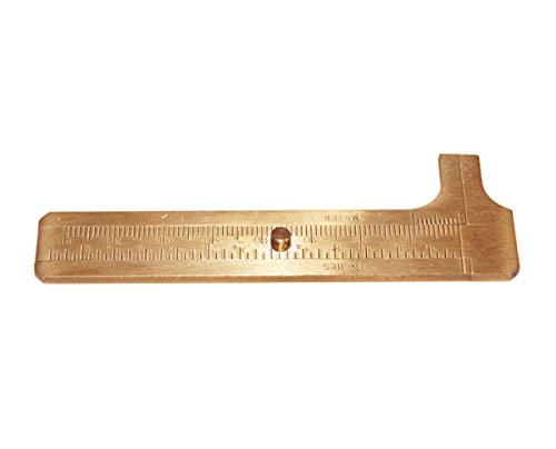 - Cevinee™ Handy Sliding Gauge Brass Vernier Caliper, Brass EDC Pocket Ruler