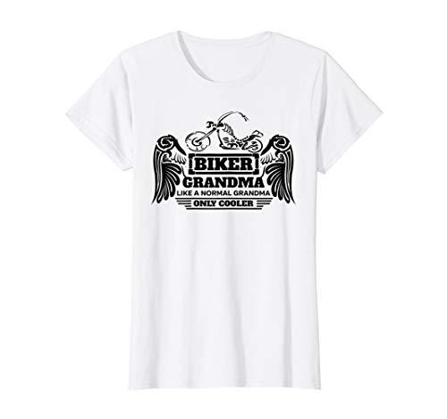 Womens Biker Grandma T-shirt Gift Idea for a Motorcycle Granny
