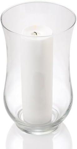 Eastland Set Of 2 Glass Adena Hurricane Vases 10 5 Home Kitchen