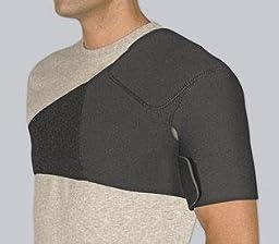 Safe-T-Sport® Neoprene Shoulder Support, Black - Large