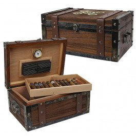 (Steampunk Trunk humidor 100 Count Trunk Humidor)