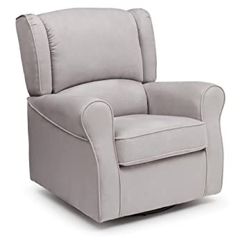 Merveilleux Delta Children Morgan Upholstered Glider Swivel Rocker Chair, Dove Grey