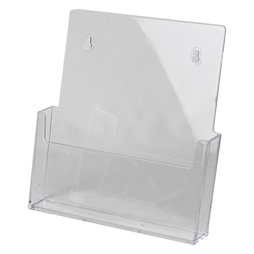 Clear-Ad - LHW-M121 - Acrylic Wall Mount Flyer Holder 8.5 x 11 (Pack of 4) (Mahogany Wall Mount Stick)