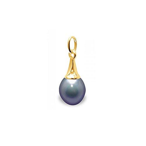 Pendentif Perle de Culture d'eau douce noires et Or Jaune 375/1000Pendentif Perles de Culture d'eau douce noires et Or Jaune 375/1000 -Blue Pearls-BPS K231 W NOIR