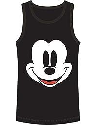 Disney Youth Tank Happy Face Mickey Black