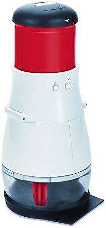 Zyliss ZC E10402 Picadora, Blanco Y Rojo, Centimeters, Acero Inoxidable