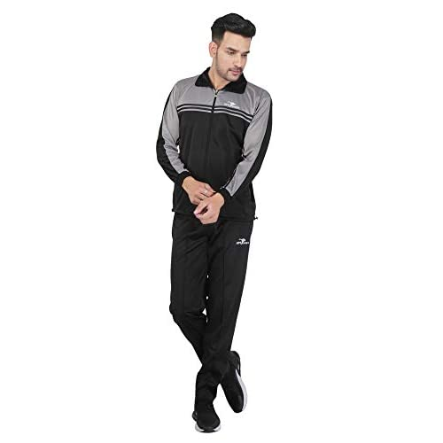 31MsZr21%2BnL. SS500  - HPS Sports Tracksuit for Men,Silver Colour Polyester Slim fit Summer Trending Casual and Gym wear Specially Designed for Athletic Body