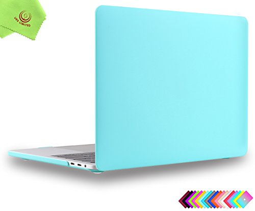 MacBook Pro 13 inch Case 2018 2017 2016, UESWILL Smooth Matte Hard Case for MacBook Pro 13-inch, 2/4 Thunderbolt 3 Ports (USB-C), with/Without Touch Bar, Model A1989/A1706/A1708, Turquoise