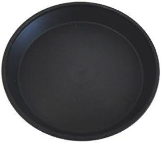 明和 セラアート受皿 植木鉢皿(プラスチック樹脂製) 黒 Lサイズ