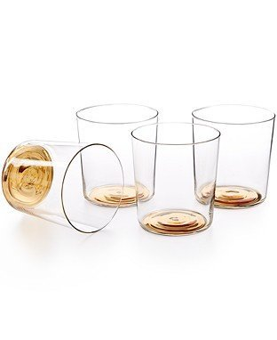 Hotel Collection Gold Set of 4 Double Old-Fashioned Glasses ()