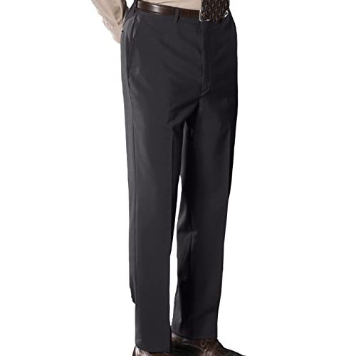 CHARCOAL Ed Garments Mens Lightweight Flat Front Dress Pant