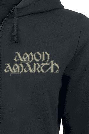 Amon Capuche Horse Noir shirt Sweat À Amarth Zippé qaHqUSw
