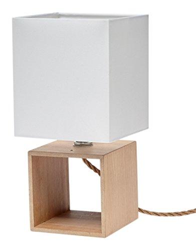 Gallis 0991104031 Wood cubo lámpara de mesa de madera 40 W 30 x 12 ...