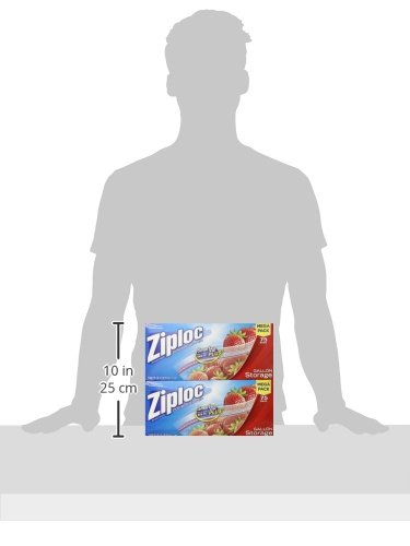 Ziploc Storage Bags Gallon Mega Pack 150 ct 2 Pack 75 ct