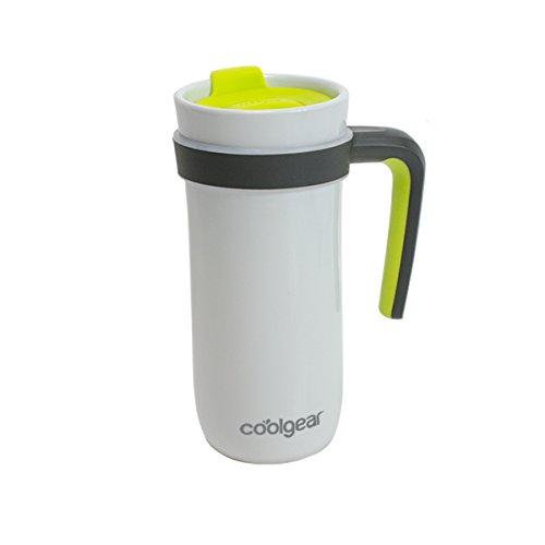 coolgear KAFE 14 oz Sumatra ceramic Mug W/Handle-Green, Green