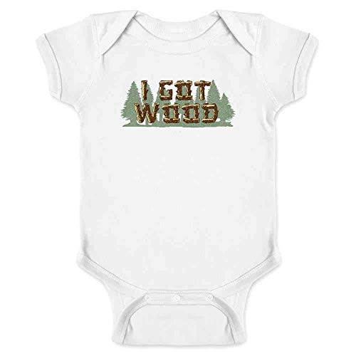 Pop Threads I Got Wood Halloween Costume Drinking Zombie White 12M Infant Bodysuit]()