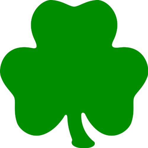 Imagine This 5-1/2-Inch by 5-1/2-Inch Car Magnet Lucky Irish, Shamrock ()