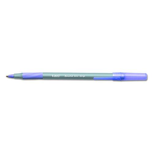 Top BIC Round Stic Grip Xtra Comfort Ball Pen, Medium (1.2 mm), Purple, 12-Count free shipping