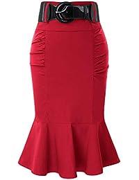 321fa1c188 Women's Pencil Skirt with Belt BP627