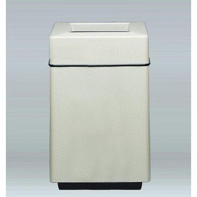 Bradley 25-Gal Top Load Industrial Trash Bin Color: Rosewood, Size: 32
