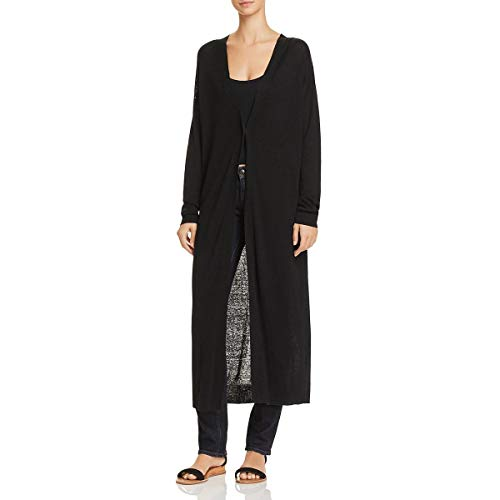 (Theory Women's Long Sleeve Maxi Cardigan, Black, M)