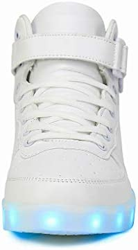 Voovix Unisex LED Shoes Light Up Shoes High Top Sneakers - 2