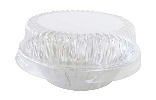 KitchenDance 3 Disposable Aluminum Tart Pans/Mini Pie Pans w/Lid Options #301- Pack Of 100 (With Lids)