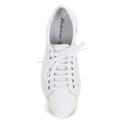 Alesya in amp;Scarpe con Bianco laserature Pelle Scarpe Sneakers Sport rSrx6wqagp