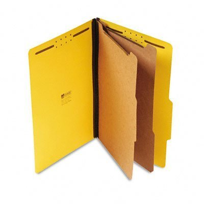 Universal : Pressboard Classification Folders, Legal, 6-Section, Yellow, 10/Box -:- Sold as 2 Packs of - 10 - / - Total of 20 Each by Universal