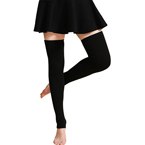 LerBen Womens Warm Cashmere Leg Warmers Long Soft Knee High Legging Socks, - Warmers Leg Cashmere