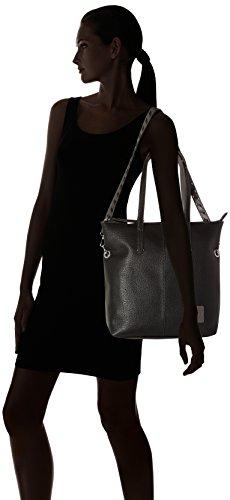 Shopper 31 Anna cm Fourre Schwarz Denim Noir Sac Tailor Tom tout tBw0q7HB