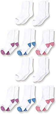 Fruit of the Loom girls 10-pair Everyday Soft Crew Socks