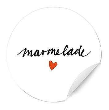 24 Marmeladenetiketten Weiß Handlettering Mit Herz