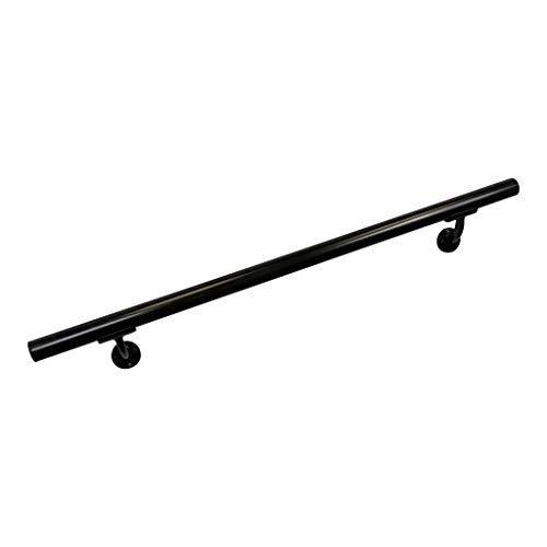 Aluminum Handrail Direct OHR 3' Handrail Section with mounts - Black ()