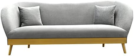 TOV Furniture The Chloe Collection Modern Velvet Upholstered Living Room Sofa