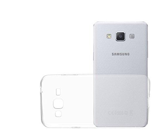OKCS® TPU Hülle Case Schutzhülle für Samsung Galaxy J3 inklusive Wunderglass Panzerglas Screenprotector Schutzfolie Displayschutz Glasprotector