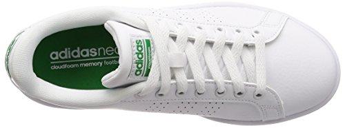 Low White Men Footwear Green Top Footwear Clean White Advantage adidas Sneakers White Cloudfoam 4qzxI