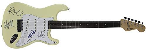 Rolling Stones 4 Jagger, Richards, Wood & Watts Autographed Signed Fender Guitar JSA -