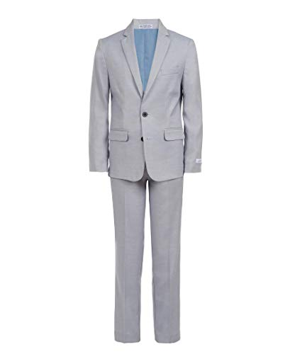 Calvin Klein Boys' Big 2-Piece Formal Suit Set, Misty rain, 16