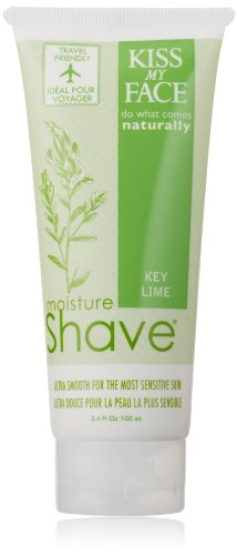 Kiss My Face Moisture Shave, Key Lime, 3.4-Ounce (Pack of 2)