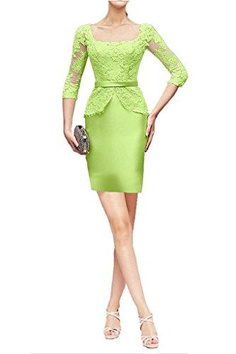 mujer Vestido Kurz para Topkleider Gruen dETw7Uq
