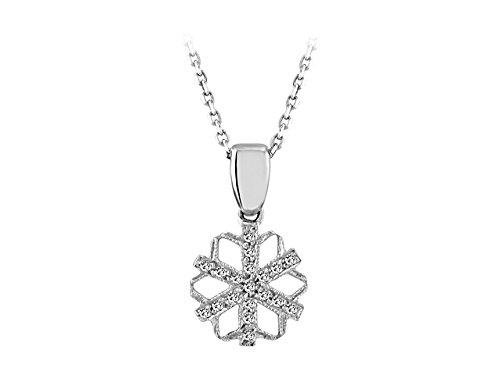 Pendentif Flocon de Neige Diamants-Femme- or Blanc 207P0022