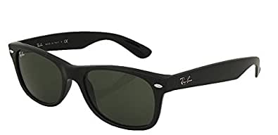 Ray-Ban RB2132 New Wayfarer Sunglasses Unisex (52 mm, Black Frame Solid Black Lens)