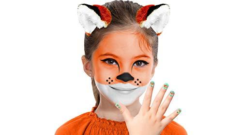 Almar Sales Company INC Fox Makeup Kit for Teens and Adults, Halloween Makeup, 8 Pieces ()
