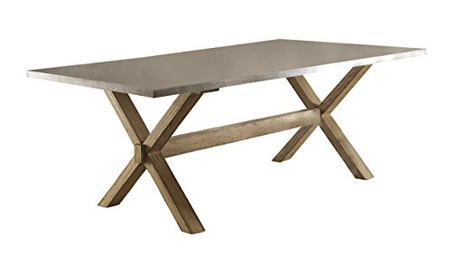 zinc top dining table - 1