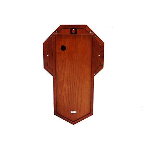 Seiko Light Oak Traditional Schoolhouse Wall Clock with Chime & Pendulum 3