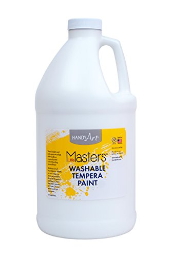 Handy Art Little Masters Washable Tempera Paint 1/2 Gallon, White (White Tempera Paint)